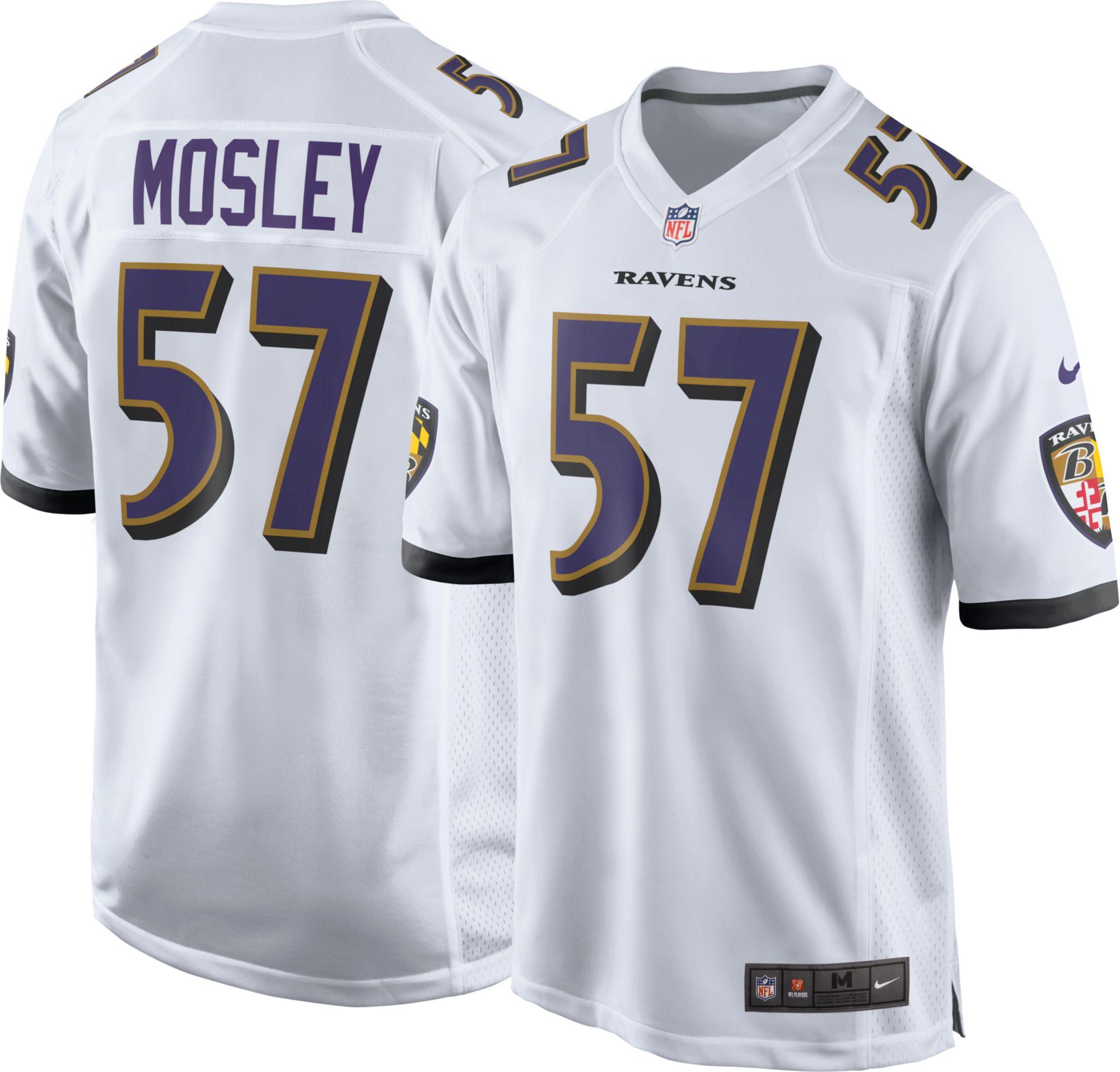 Nike Men s Away Game Jersey Baltimore Ravens C J Mosley 57