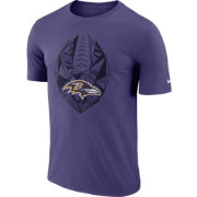 Nike Men's Baltimore Ravens Icon Performance Purple T-Shirt
