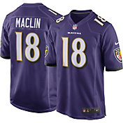 Nike Men's Home Game Jersey Baltimore Ravens Jeremy Maclin #18