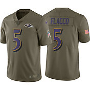 Nike Men's Home Limited Salute to Service 2017 Baltimore Ravens Joe Flacco #5 Jersey