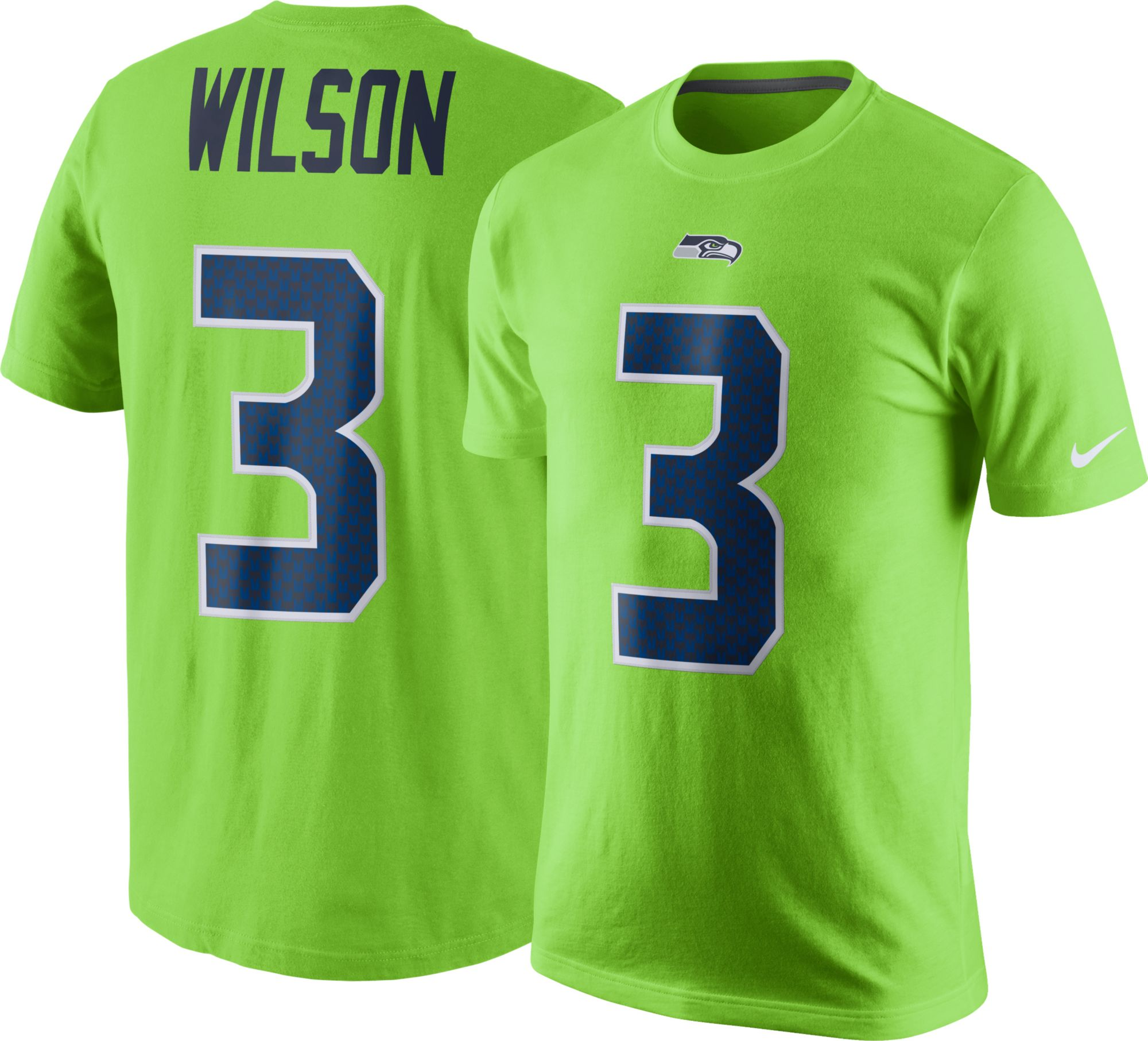 Nike Men\'s Seattle Seahawks Russell Wilson #3 Color Rush 2017 Pride ...