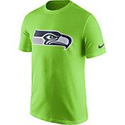 Nike Men's Seattle Seahawks Essential Logo Green T-Shirt
