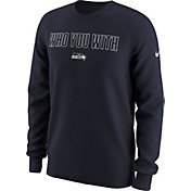 Nike Men's Seattle Seahawks 'Who You With' Navy Long Sleeve Shirt