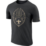 Nike Men's New Orleans Saints Diffraction Icon Performance Black T-Shirt