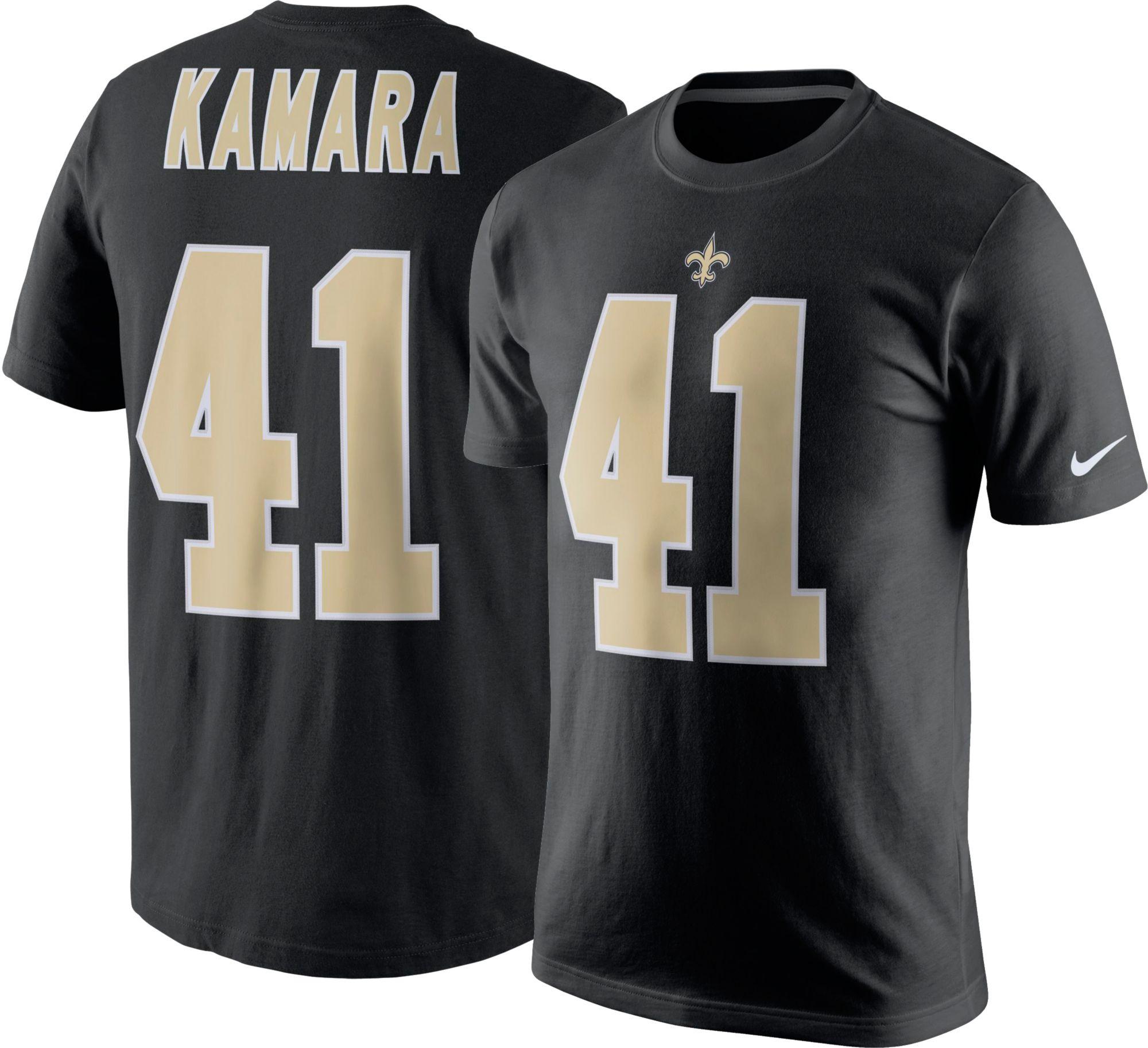 95103181d91 ... Nike Mens New Orleans Saints Alvin Kamara 41 Pride Black T-S New  Orleans Saints Nike Womens Custom Game Jersey ...