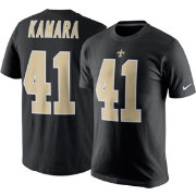 Nike Men's New Orleans Saints Alvin Kamara #41 Pride Black T-Shirt