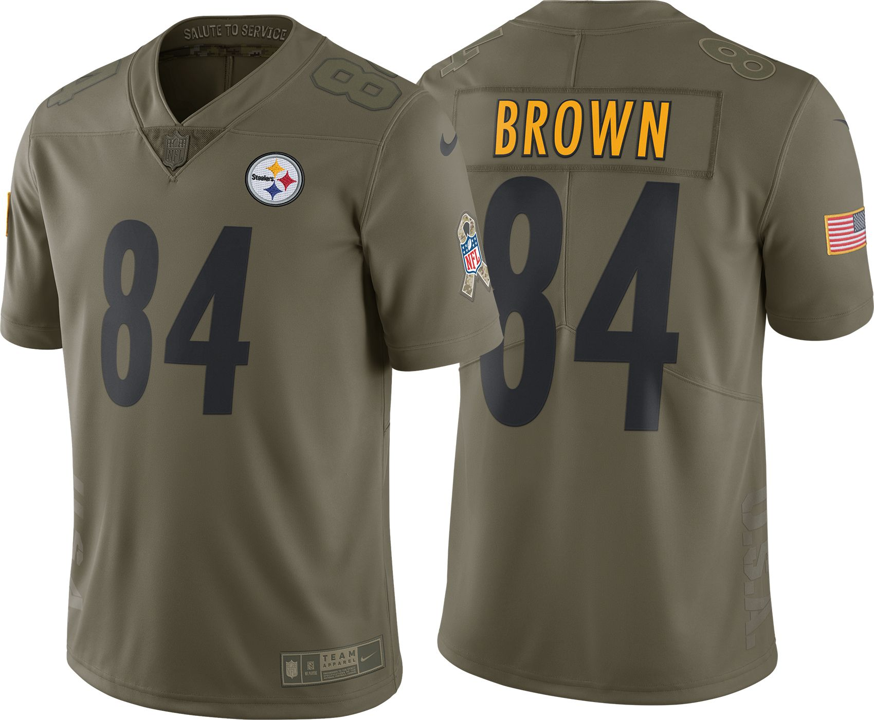 8dc6dafde12 ... new zealand nike mens home limited salute to service pittsburgh steelers  antonio brown 84 jersey dicks