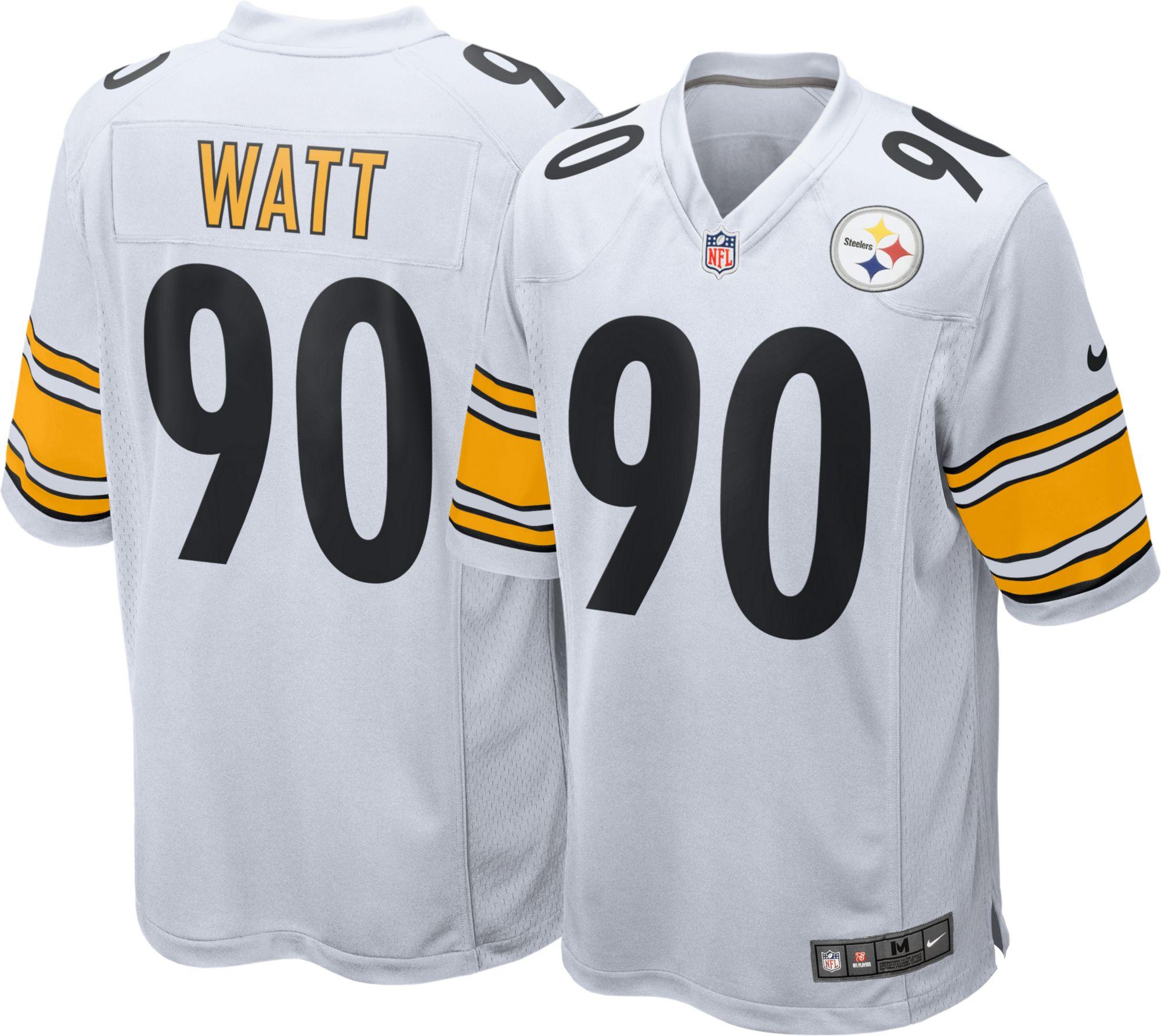 59511e530bc ... Home 88 Nike Mens Away Game Jersey Pittsburgh Steelers T.J. Watt 90 ...