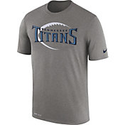 Nike Men's Tennessee Titans Legend Football Icon Performance Grey T-Shirt