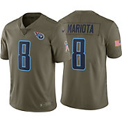 Nike Men's Home Limited Salute to Service 2017 Tennessee Titans Marcus Mariota #8 Jersey