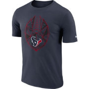 Nike Men's Houston Texans Diffraction Icon Performance Navy T-Shirt