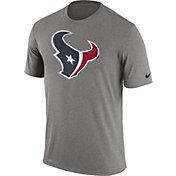Nike Men's Houston Texans Legend Logo Performance Grey T-Shirt