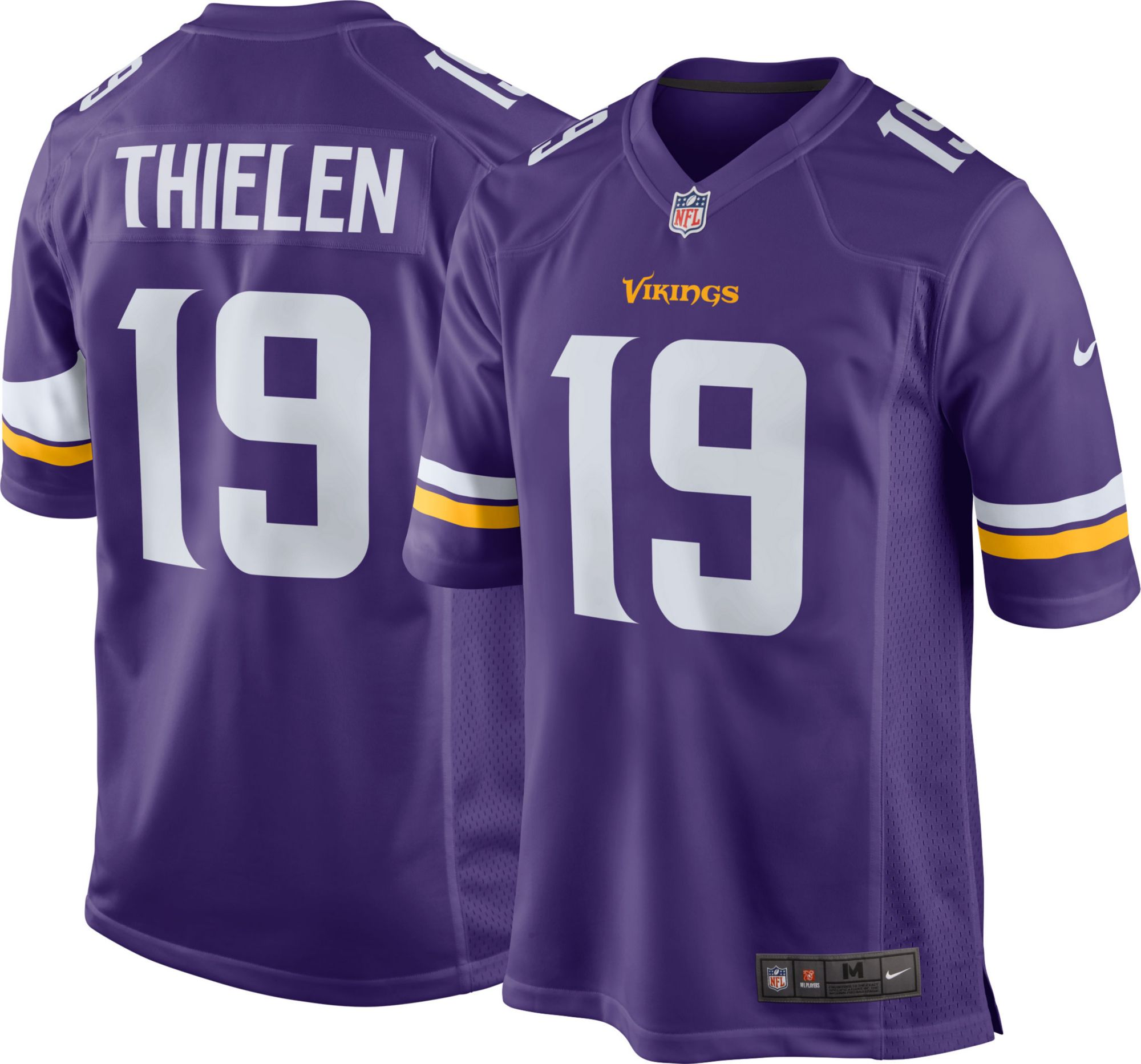 san francisco e1850 fd877 Details about Minnesota Vikings Home Jerseys #8 Kirk Cousins #14 Diggs #19  Thielen