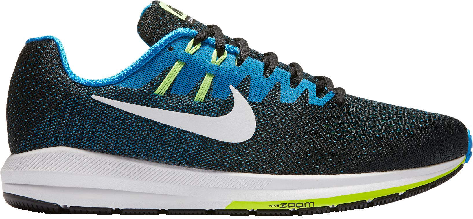 NIKE AIR ZOOM STRUCTURE 20 BLACKWHITEBLUE Colore:BLACK