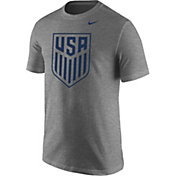 Nike Men's USA Soccer Crest Heather Grey Tri-Blend T-Shirt