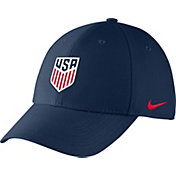 Nike Men's USA Soccer Crest Structured Navy Flex Hat