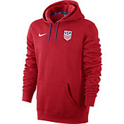 Nike Men's USA Soccer Core Red Pullover Hoodie