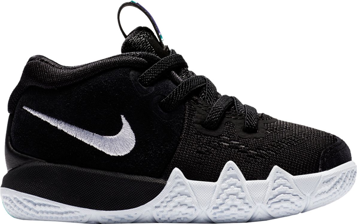 Product Image Nike Toddler Kyrie 4 Basketball Shoes Black White