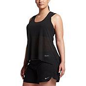 Nike Women's Plus Size Breathe Running Tank Top