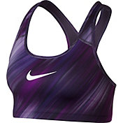 Nike Women's Classic Swoosh Light Streak Printed Sports Bra