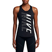 Nike Women's Logo Double Strap Elastika Tank Top