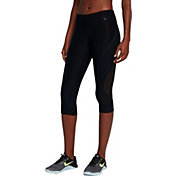 Nike Women's Power Legend Veneer Mesh Capris
