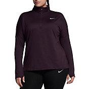 Nike Women's Plus Size Dry Element ½ Zip Running Shirt
