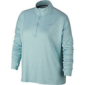 Nike Women's Plus Size Dry Element ½ Zip Running Shirt