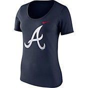 Nike Women's Atlanta Braves Navy Scoop Neck T-Shirt