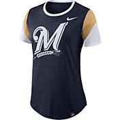 Nike Women's Milwaukee Brewers Tri-Blend T-Shirt