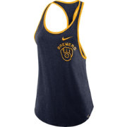 Nike Women's Milwaukee Brewers Tri-Blend Tank Top