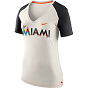 Nike Women's Miami Marlins Fan V-Neck Shirt