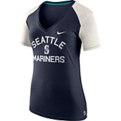 Nike Women's Seattle Mariners Fan V-Neck Shirt