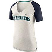Nike Women's Seattle Mariners Fan V-Neck Shirt