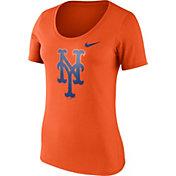 Nike Women's New York Mets Orange Scoop Neck T-Shirt