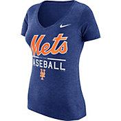 Nike Women's New York Mets Practice Royal Tri-Blend V-Neck T-Shirt