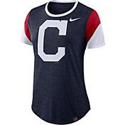 Nike Women's Cleveland Indians Tri-Blend T-Shirt