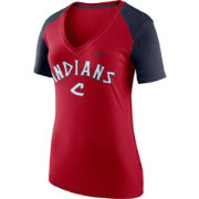 Nike Women's Cleveland Indians Fan V-Neck Shirt