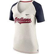 Nike Women's Cleveland Indians Fan V-Neck Shirt