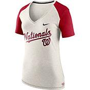 Nike Women's Washington Nationals Fan V-Neck Shirt