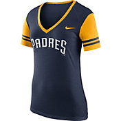 Nike Women's San Diego Padres Fan Navy V-Neck Shirt