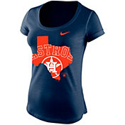 Nike Women's Houston Astros State Logo Navy Scoop Neck T-Shirt