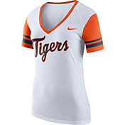 Nike Women's Detroit Tigers Fan White V-Neck Shirt
