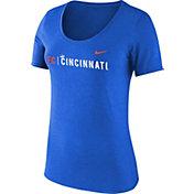 Nike Women's FC Cincinnati Core Wordmark Royal Short Sleeve Scoop T-Shirt