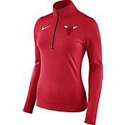 Nike Women's Chicago Bulls Dri-FIT Red Element Half-Zip Pullover