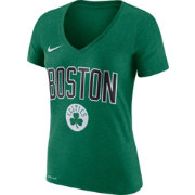 Nike Women's Boston Celtics Dri-FIT Kelly Green Wordmark V-Neck T-Shirt