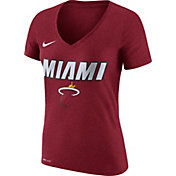 Nike Women's Miami Heat Dri-FIT Red Wordmark V-Neck T-Shirt