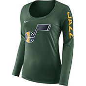 Nike Women's Utah Jazz Dri-FIT Green Logo Long Sleeve Shirt