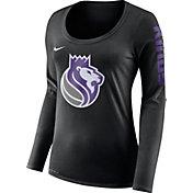 Nike Women's Sacramento Kings Dri-FIT Black Logo Long Sleeve Shirt
