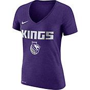 Nike Women's Sacramento Kings Dri-FIT Purple Wordmark V-Neck T-Shirt
